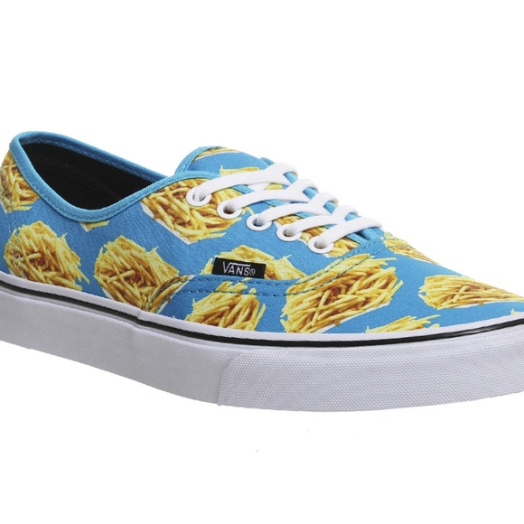 10ad168953 Vans Authentic Late Night Blue Atoll Fries Shoes